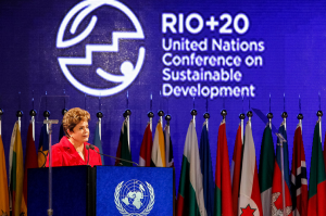Brazilian President Dilma Rousseff at the Conference on Sustainable Development