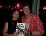 Author Lani Morris (right) at the launch of The Map of Meaning in Brisbane.